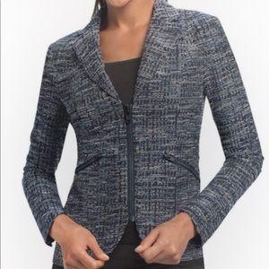 Cabi navy tweed like blend jacket